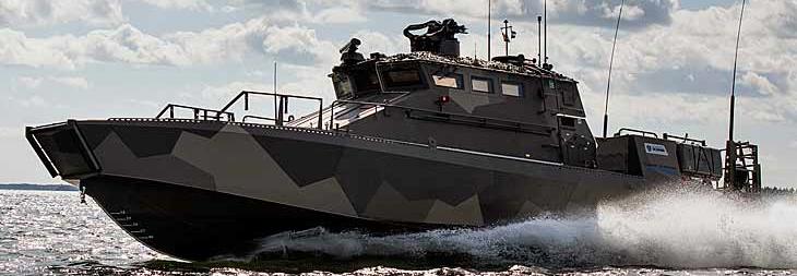 фінський швидкісний десантний катер прибережної зони Watercat M18 AMC