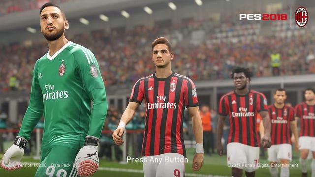 PES 2018 AC Milan DP2 Startscreen by ABW