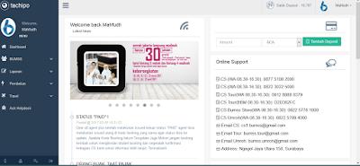 menu-menu transaksi dan transaksi tiket pesawat