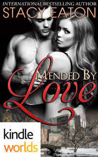romance novel cover, contemporary romance, Mended by Love by Stacy Eaton