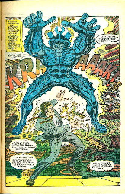 Strange Tales v1 #154 nick fury shield comic book page art by Jim Steranko