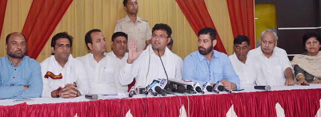 Congress state president Ashok Tanwar accused BJP government of cheating corruption
