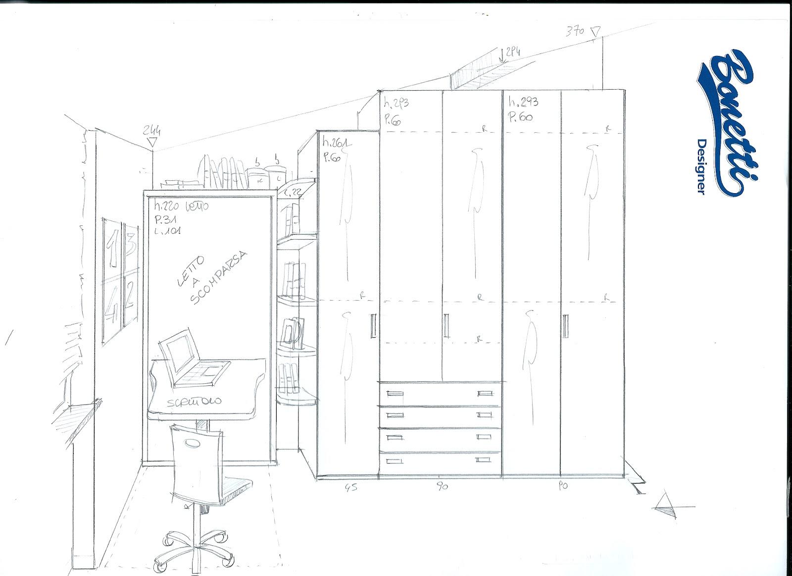 Bonetti camerette bonetti bedrooms progetto cameretta in for Progetto camera