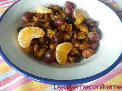 mandarinas y uvas