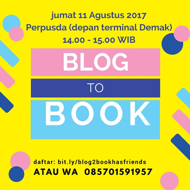 FROM BLOG TO BOOK #UpcomingClass