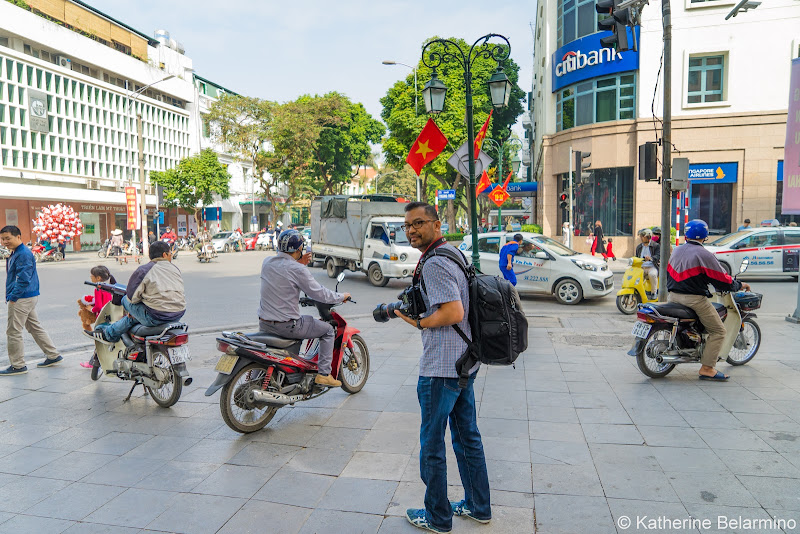 Motorbikes on Sidewalks Things to Do in Hanoi Vietnam
