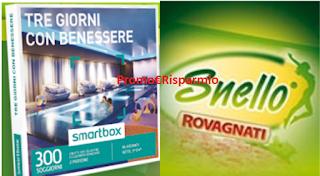 Logo Vinci decine di cofanetti Smartbox con Snello