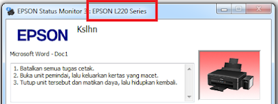 Tips Memperbaiki Printer Epson L210 Dan L220 Error Paper Jam Kertas