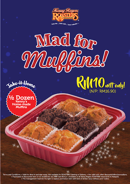 Kenny Rogers ROASTERS Muffins Discount Promo