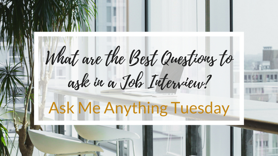 """""""What are the Best Questions to ask a Potential Employer in a Job Interview?"""" - Ask Me Anything Tuesday"""