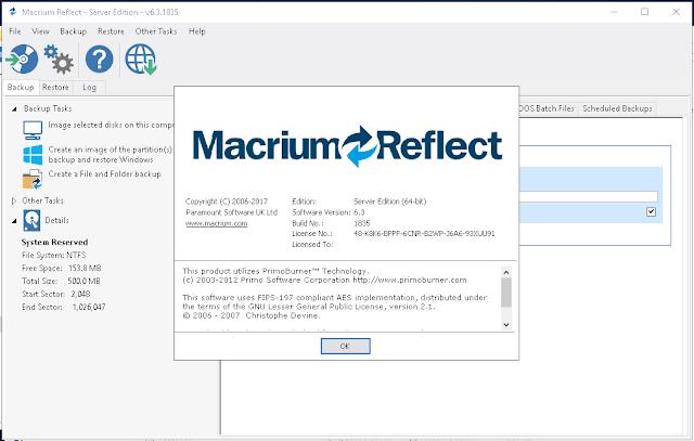 Macrium Reflect Workstation / Server / Server Plus 6.3.1835