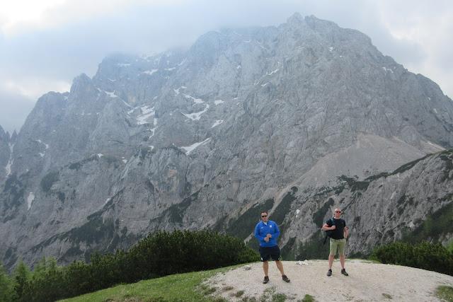 Looking towards the North wall of Prisank Mountain - Triglav, Slovenia