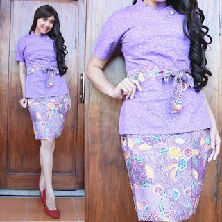 desain baju batik dress modern