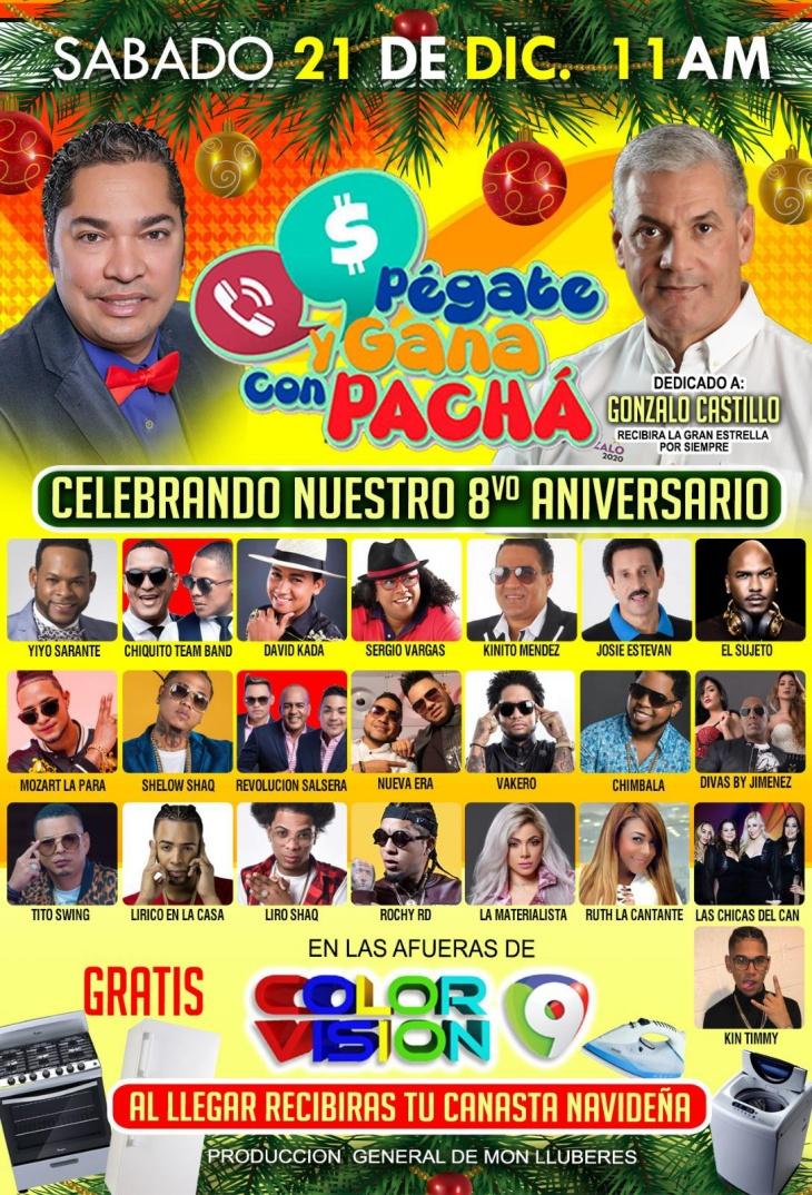 """El Pachá celebra con ocho horas de transmisión en vivo octavo aniversario de """"Pégate y Gana"""" este sábado"""