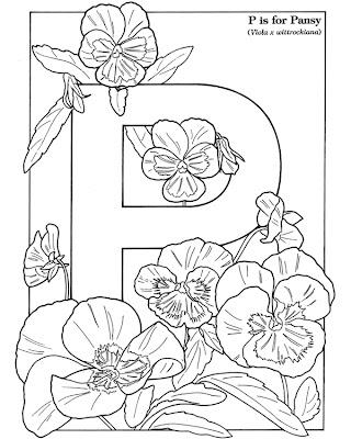 purple plant coloring pages - photo#14