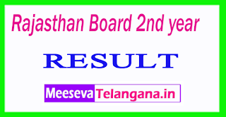 Rajasthan Board 12nd year Result 2017