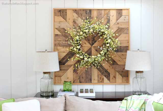 diy giant wood planked wall quilt