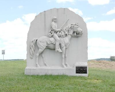 17th Pennsylvania Calvary Monument Gettysburg Battlefield