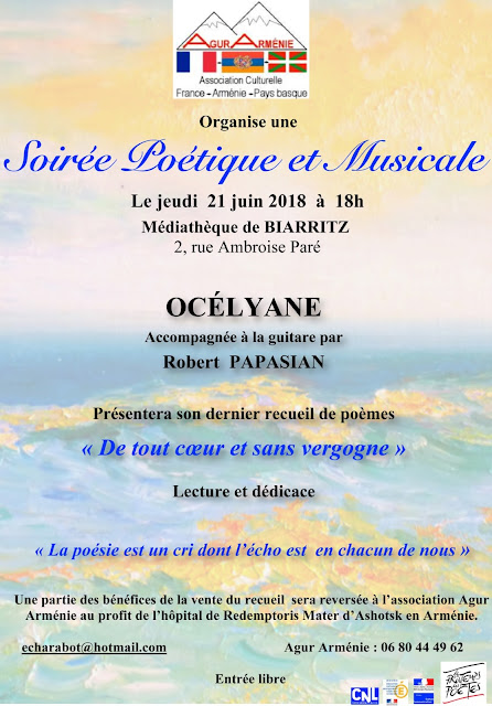 https://agurarmenie.wordpress.com/2018/06/11/presentation-soiree-poetique-et-musicale-21-juin-2018-a-la-mediatheque-de-biarritz/