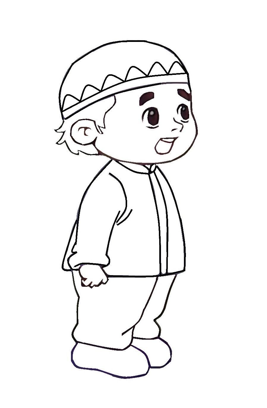 Gambar Mewarnai Kartun Muslim Terbaru Gambarcoloring