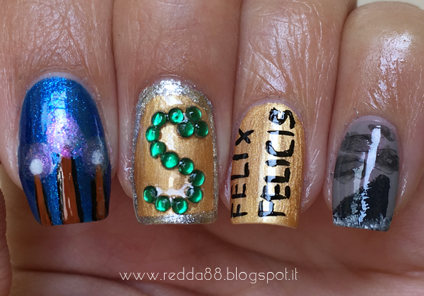 harry potter and the half blood prince nail art