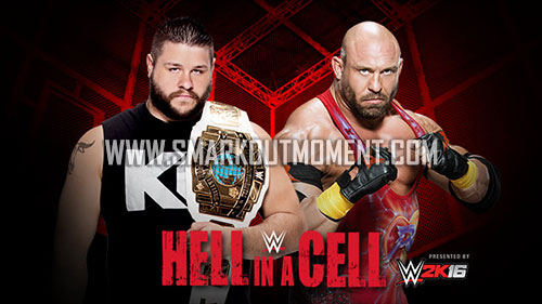 WWE Hell in a Cell 2015 Ryback vs Kevin Owens IC Title match