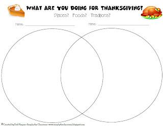 Simply The Classroom: Thanksgiving Venn Diagram