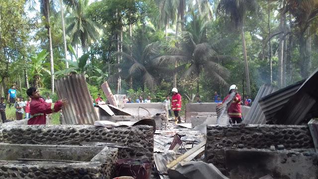 Rumah Ali Basar  di Sungai Pua Koto Dalam Barat Ludes di Lalap si Jago Merah