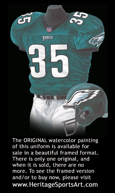 dbca4a28 Philadelphia Eagles Uniform and Team History | Heritage Uniforms and ...