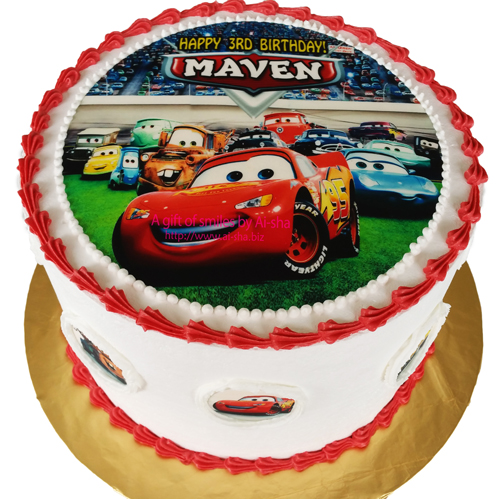 Birthday Cake Edible Image Disney Cars