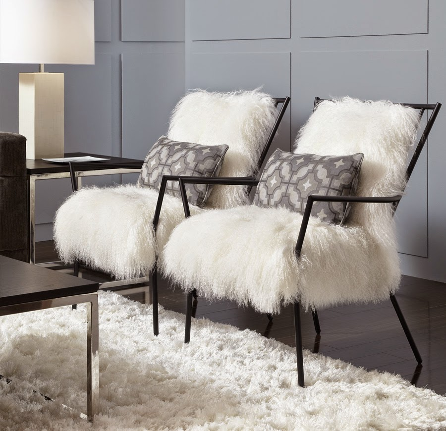 Eye For Design: Decorate Your Interiors With White Faux Furs