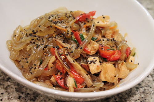 Lucky Peach Jap Chae with Chicken