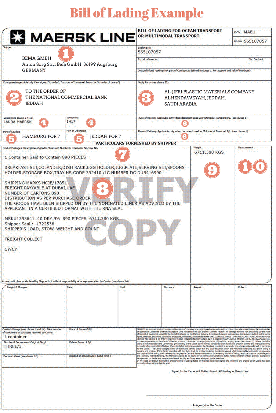 bill of lading example bill of lading template excel bill of
