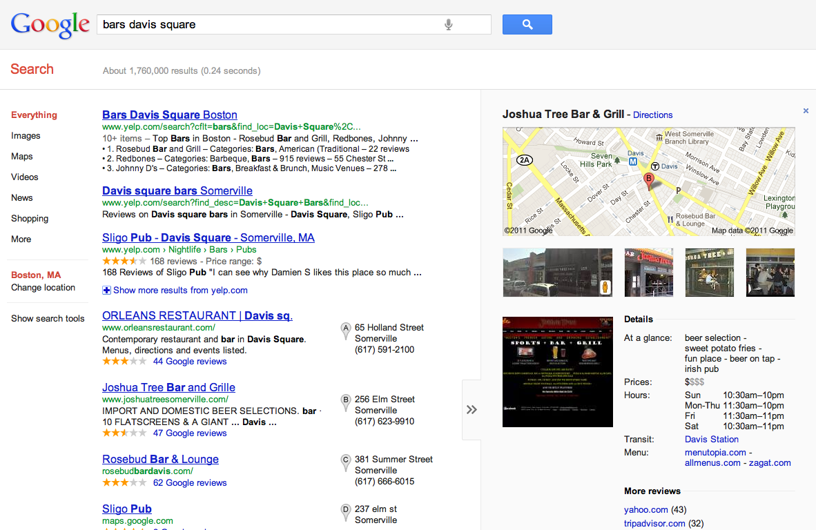 how to get an information box on google search