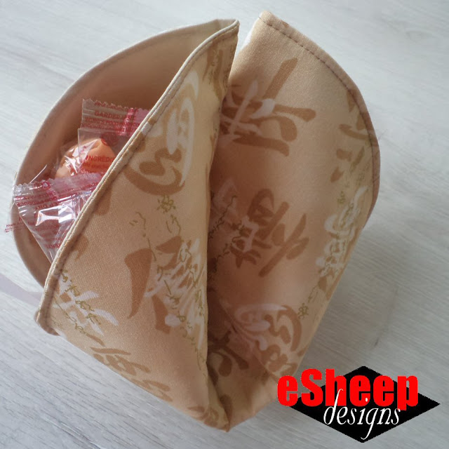 Fabric Fortune Cookie by eSheep Designs