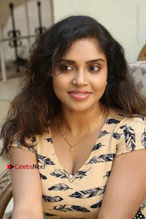 Telugu Actress Karunya Chowdary Stills in Short Dress at ATM Not Working Press Meet  0152.jpg