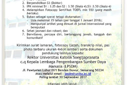 Lowongan Kerja Dosen Psikologi Universitas Katolik Soegijapranata (UNIKA)