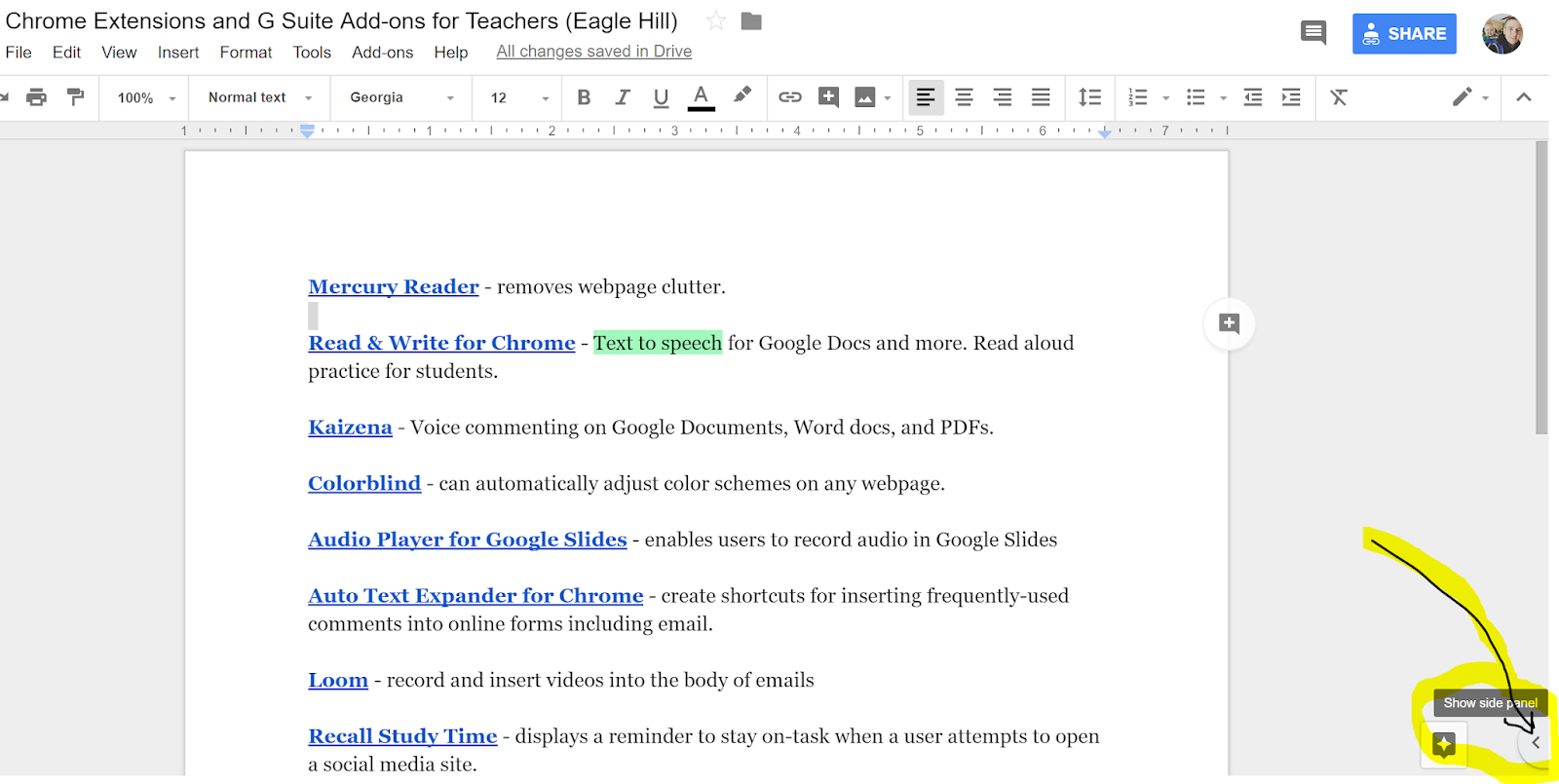 how to voice record on google slides