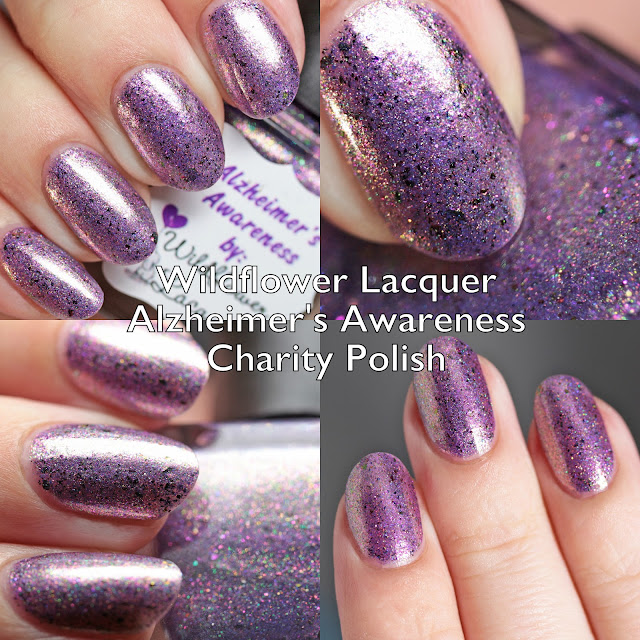 Wildflower Lacquer Alzheimer's Awareness Charity Polish