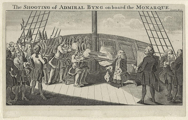 The Shooting of Admiral Byng, 1757