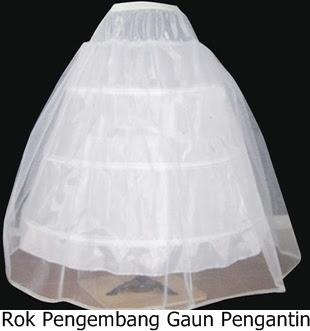 Rok Pengembang Gaun Pengantin Pesta