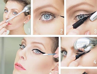 Spoon eyeliner technique for the perfect cat eye