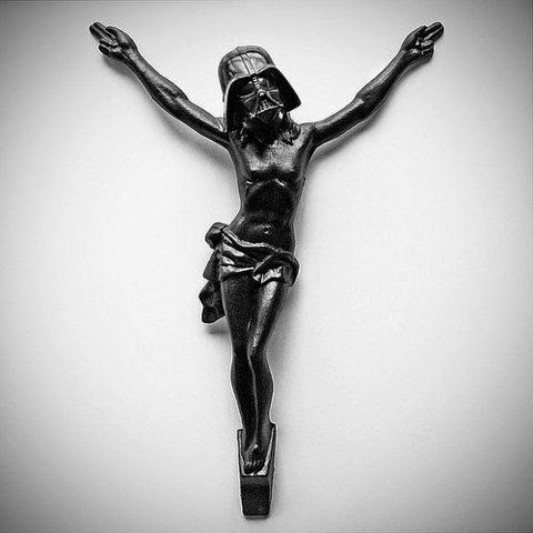 Funny Weird Jesus Collection - Darth Vader Star Wars Crucifix Picture