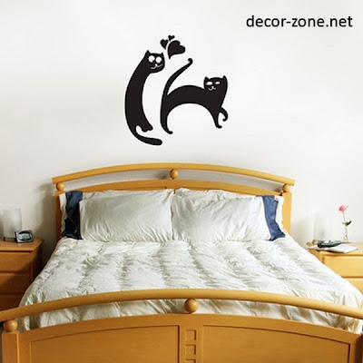 vinyl wall stickers for the bed wall