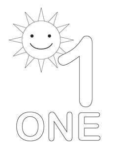 free number coloring pages 1 10 | Free Coloring Pages Printable: Fun Number One Coloring Pages
