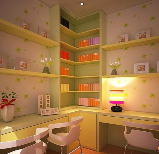 Child Study Room Design Model Home Interiors