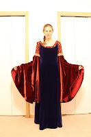 Arwen's Blood Red Gown by Adrienne