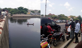 Man jumps into canal in Festac