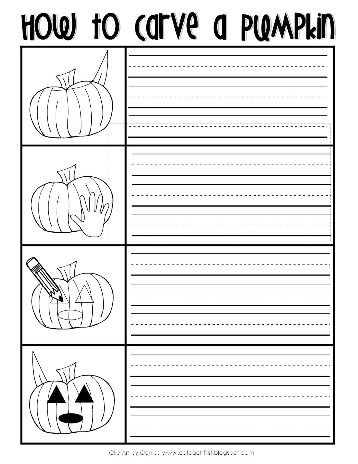 Clip Art By Carrie Teaching First Freebie How To Carve A