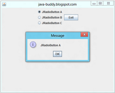 ActionListener of JRadioButton